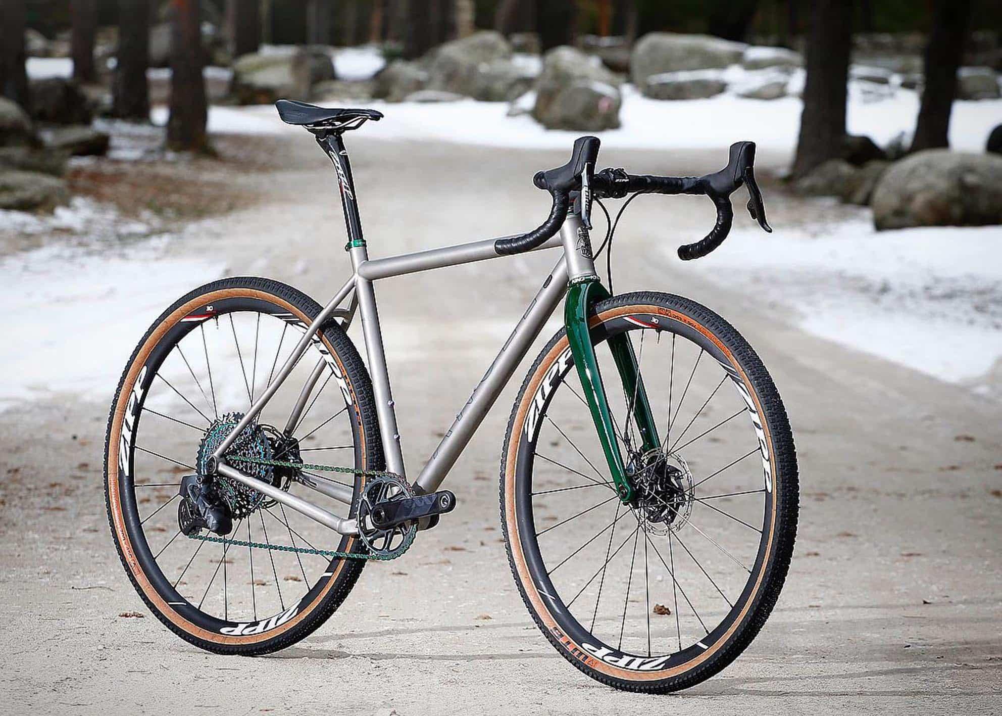 Bicicleta de titanio Hard Gravel Custom